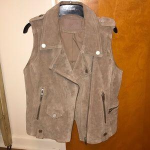 BlankNYC genuine suede moto vest